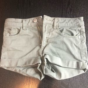 Other - girls army green jean shorts